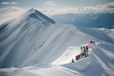 competiţie de freeride snowboard
