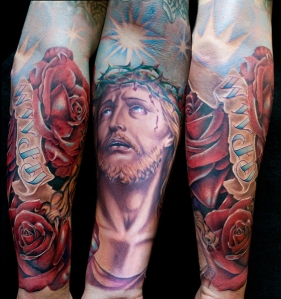 Jesus-3-D-Arm-Tattoo